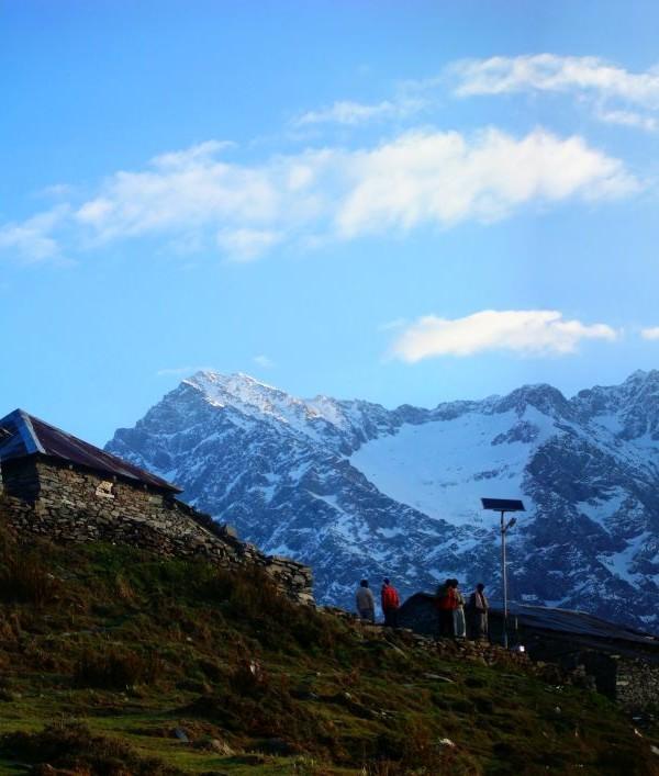 Aadi Himani Chamunda Temple trek panorama