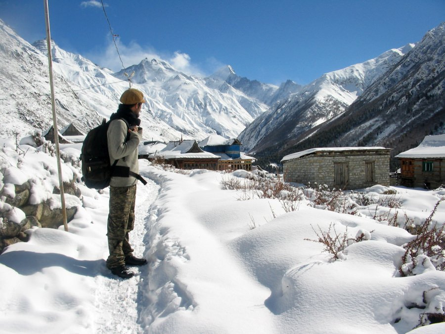snow walk to chitkul