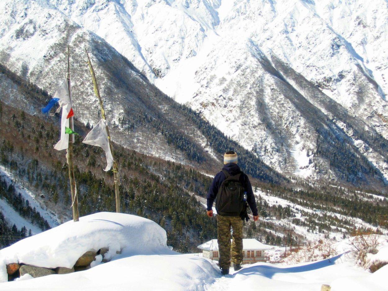 snow walk to chitkul