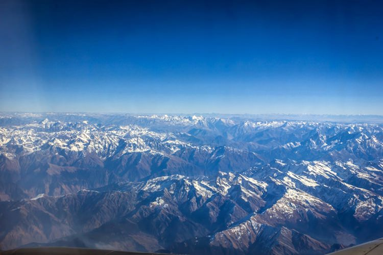 A stunning view from my Delhi to Leh bound flight