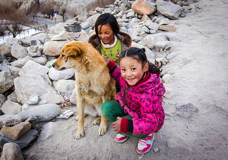 Cute Ladakhi girls