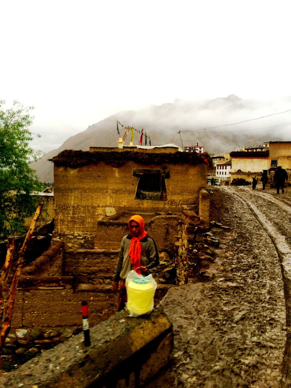 Kibber village shortly after rain