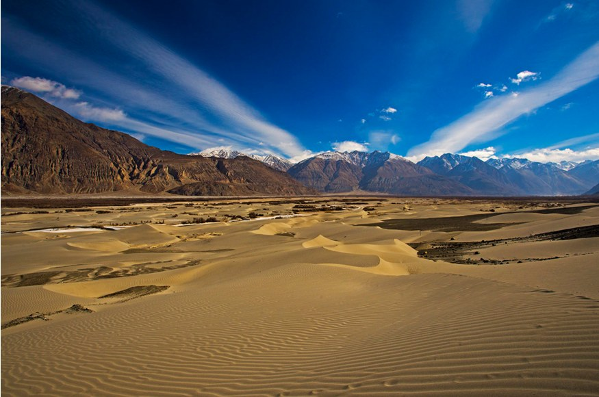 Sand dunes in cold desert of Ladakh