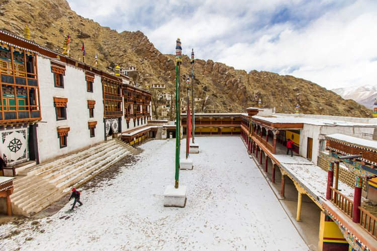 Snow covered Hemis Monastery/Image Courtesy: Ayan Das