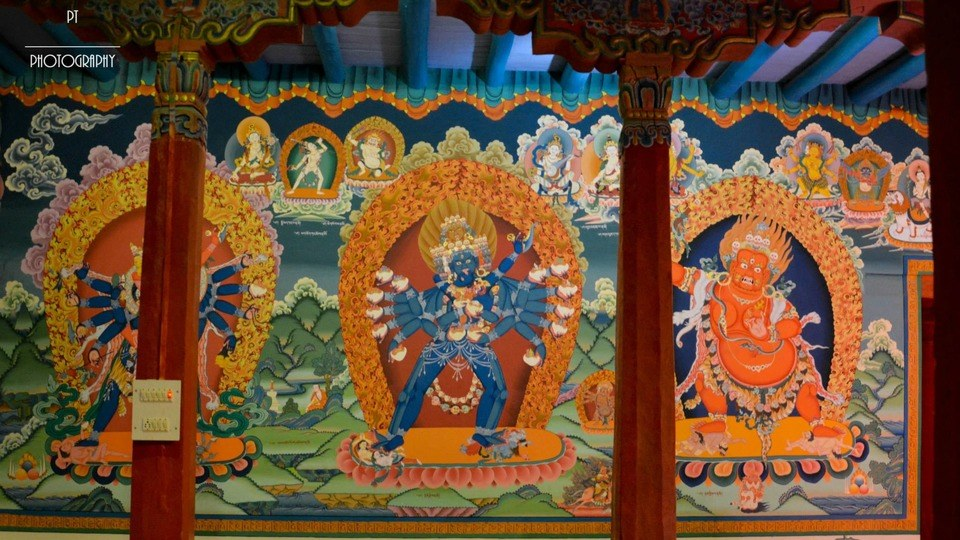 Wall art at Hemis Monastery