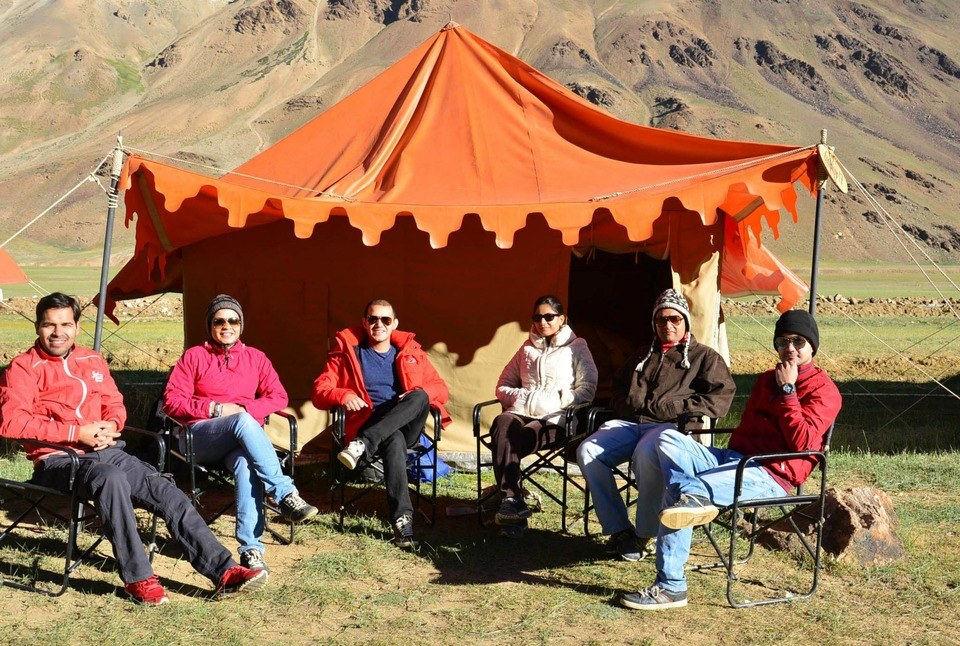 We at Sarchu Campsite