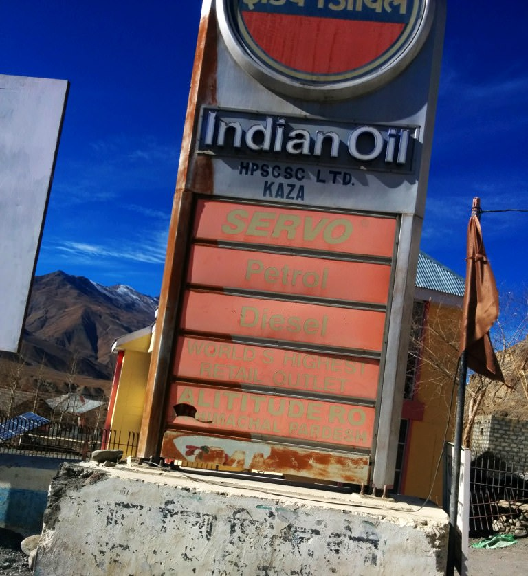 World's Highest Gas Station in Kaza.