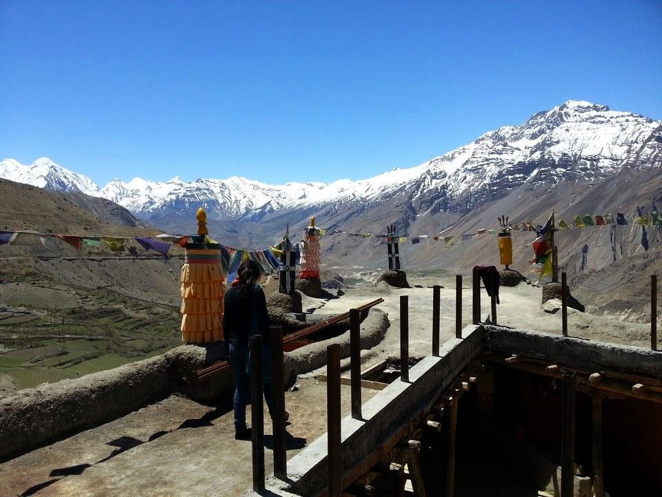 Dhankar Monastery Roof