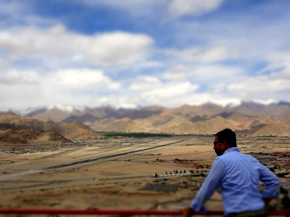 Spituk Monastery overlooking Leh city