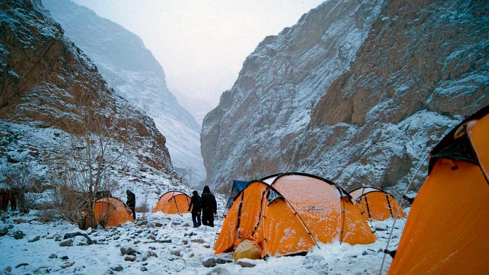 Camping at Chadar Trek 2017